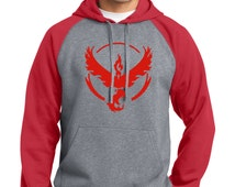 Pokemon Go, Pokemon Go Hoodie, Pokemon Team Red, Team Valor Hoodie, Pokemon Hoodie, Pokemon Go Shirt, Men's, Women's, Team Red Shirts