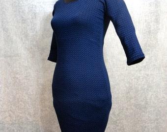 Stretch Bodycon Blue - Sleek Dress