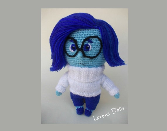 Sadness Inside Out Amigurumi Crochet Doll by LorensDolls ...
