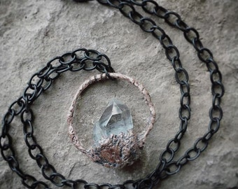 Witchy crystal rustic necklace