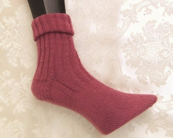 Socks, stockings, knitted socks with Angora