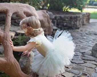 Noelle Ivory Tutu. Cream tutu. Princess tutu. Shabby Chic Tutu. Vintage Tutu.