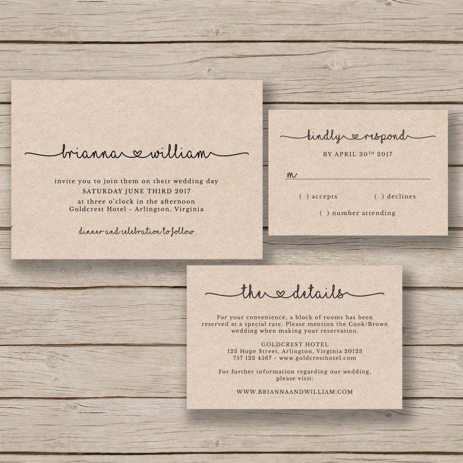 Wedding Invitation Templates: Wedding Invitation Template Rustic Wedding Printable