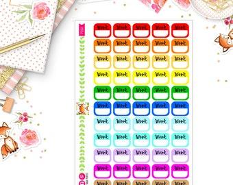 Small WORK box stickers (P233)