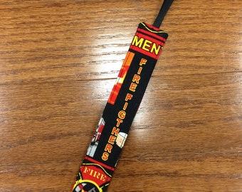 Firefighter Black Pacifier Clip