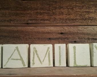 """Rustic """"Family"""" Blocks"""