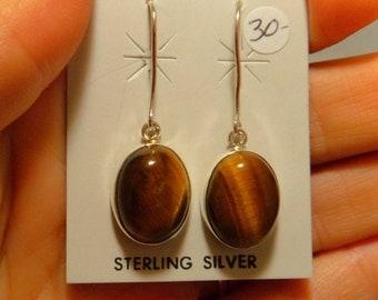 GOLDEN TIGEREYE EARRINGS Sterling Silver