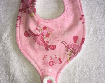 Baby Bib with pacifier holder 4-12 month old