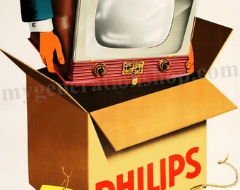 Philips Television 1950's Poster