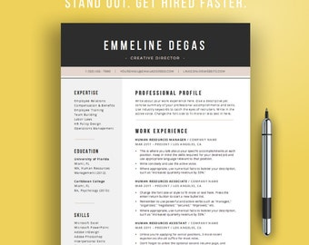 Professional Resume Template for Word | 4 Pages CV Template, Professional, Modern Resume Template | Designer Resume Instant Download
