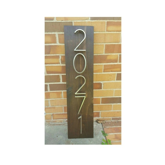 Address Plaque, Wooden Address Plaque, House Numbers Sign, House Numbers Plaque, Address Sign, House Numbers, Vertical Address