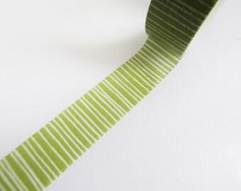 Green Washi Tape Sampler, Masking Tape Sampler für kikki k, filofax, Happy Planner or Erin Condren