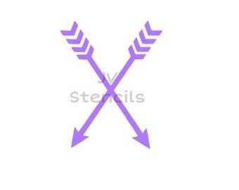 2 Arrows Stencil