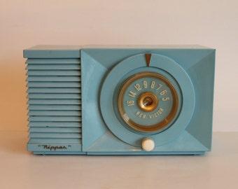 Baby Blue Powder Blue RCA Bakelite Little Nipper lll 3 Radio