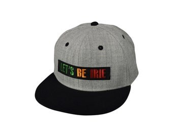 LET'S BE IRIE - Heather Gray SnapBack Hat