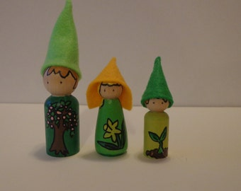 Spring Gnomes for Nature Table Play