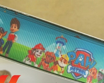 Paw Patrol 7/8 inch Ribbon by the yard