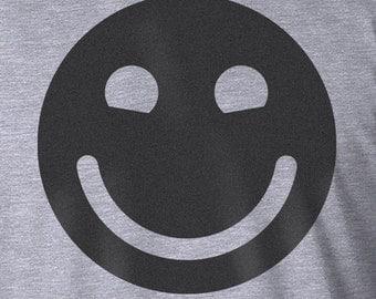 Smiley Face, Screen Printed Shirt, Smiley Face Shirt, Smiley Shirt, Smile Shirt, Happy Shirt, Be Happy Shirt, Happy, Be Happy, Noa Design Co