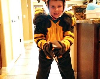 FLEECE Stripe Gremlins Monster Plush Halloween Costume Kids Custom Made