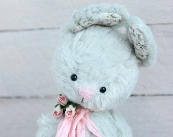 "Stuffed bunny.""Mint"".Bunny. Stuffed rabbit.Rabbit.Teddy Bear.Vintage teddy.Old teddy.Torture teddy.Artist teddy.Teddy"