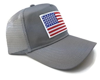 FREE Shipping - American Flag 5 Panel Low Profile Mesh Cap