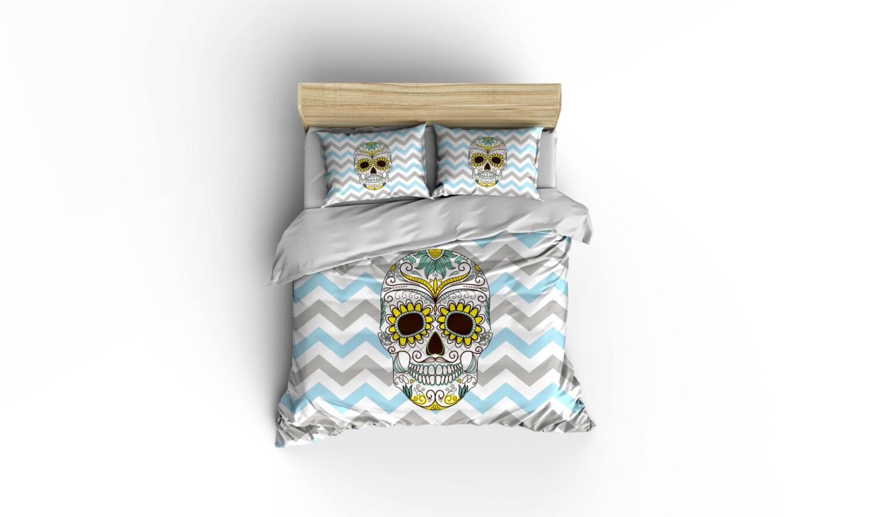 Sugar Skull Duvet Covers Home Decor Bedding Comforter