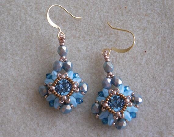 beaded earrings tutorial beading pattern earrings