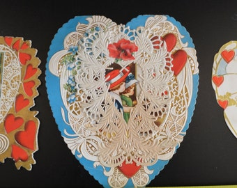 Valentine Cards Group Whitney Made Hearts Children Paper Lace