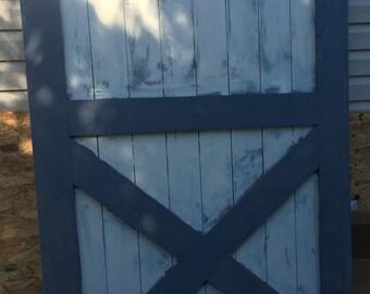 Custom, Two Toned, Rustic, Hanging / Sliding, Interior Barn Door