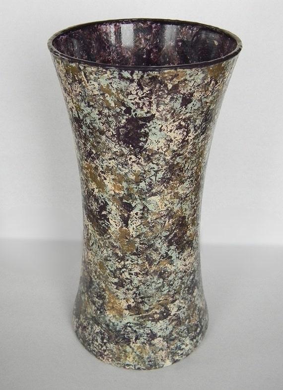 Unique vases glass vase centerpiece by sugarcreekdecorating