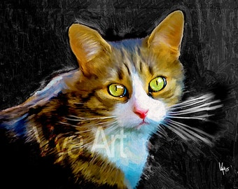 CAT PORTRAIT Custom Cat portrait Pet portrait Cat painting custom Pet Portrait Cat art Custom Cat painting Custom portrait portrait Custom