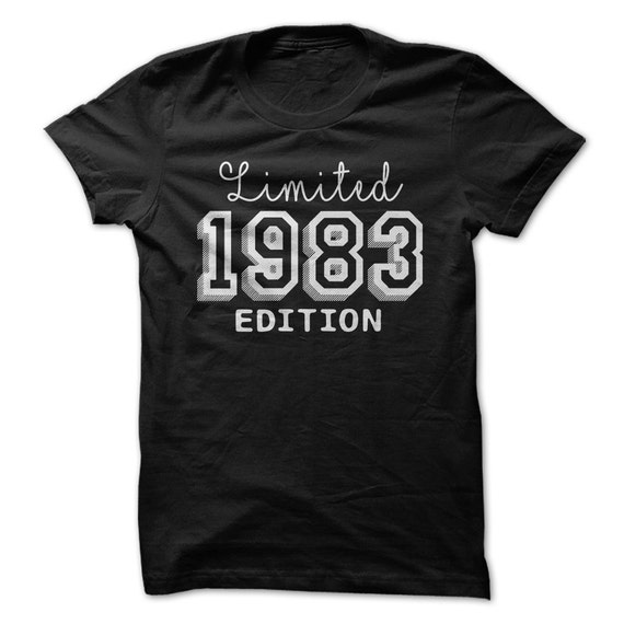 1983 limited edition b day 34th birthday t shirt tee shirt t shirt