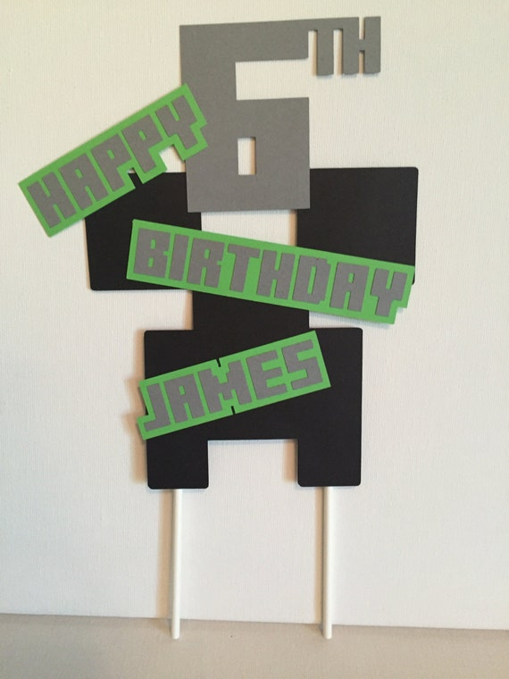 Minecraft Creeper Cake Topper