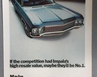 1970 Chevy Impala Print Ad - Chevrolet