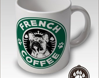 French Bulldog Coffee Mug - Starbucks Style - Free UK + USA SHIPPING