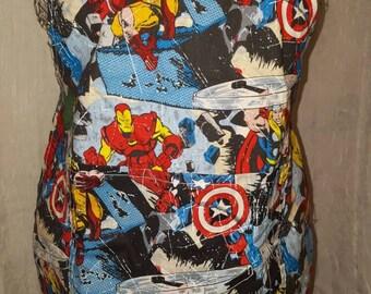 "Boy's ""Marvelous"" cooking, activity apron. Marvel Comic"