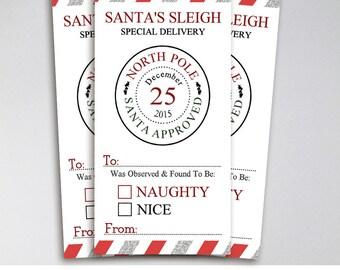 Christmas Favor Tags, Printable Christmas Tags, INSTANT DOWNLOAD, Naughty or Nice Christmas Tags, Gift Tags, Printable Gift Tags, Christmas
