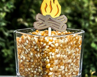Campfire Cupcake Toppers Set of 8