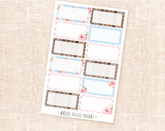 12 half box stickers - Cottage collection / Functional planner stickers