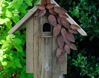 Weathered Leaves Birdhouse