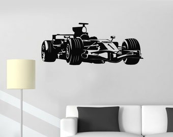 Wall Vinyl Decal Car Racing Formula Race Man Cave Sticker (#1024da)