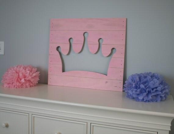 Items Similar To Large Princess Crown Wood Cutout Wall Art
