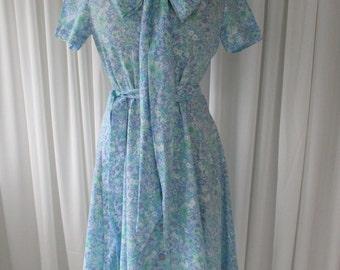 Vintage Floral Day Dress 1960's