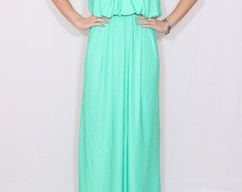 Mint Bridesmaid dress Mint green dress Long mint dress