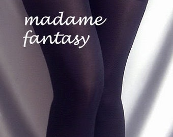 Thin spandex stockings black