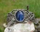 Macrame Bracelet. Kyanite. Macrame Jewelry. Kyanite Bracelet. Kyanite Jewelry. Crystal Bracelet.