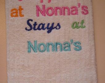 Tea towel for Nonna