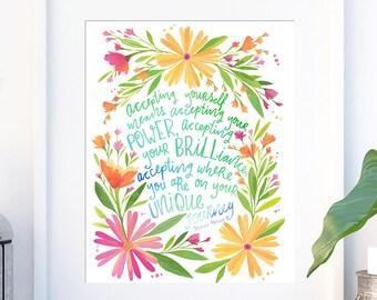 Inspirational Quote, Printable Wall Art | Motivational Quote, Inspiring Quote, Typography Quote | Office Decor, Dorm Wall Art Print