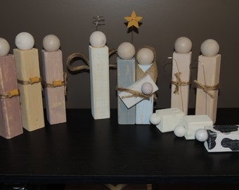 Wooden Nativity Scene/Set