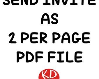 Send Invite as 2 per page PDF